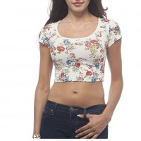 Printed Crop Top Manufacturer Wholesale Private Label Clothing Supplier