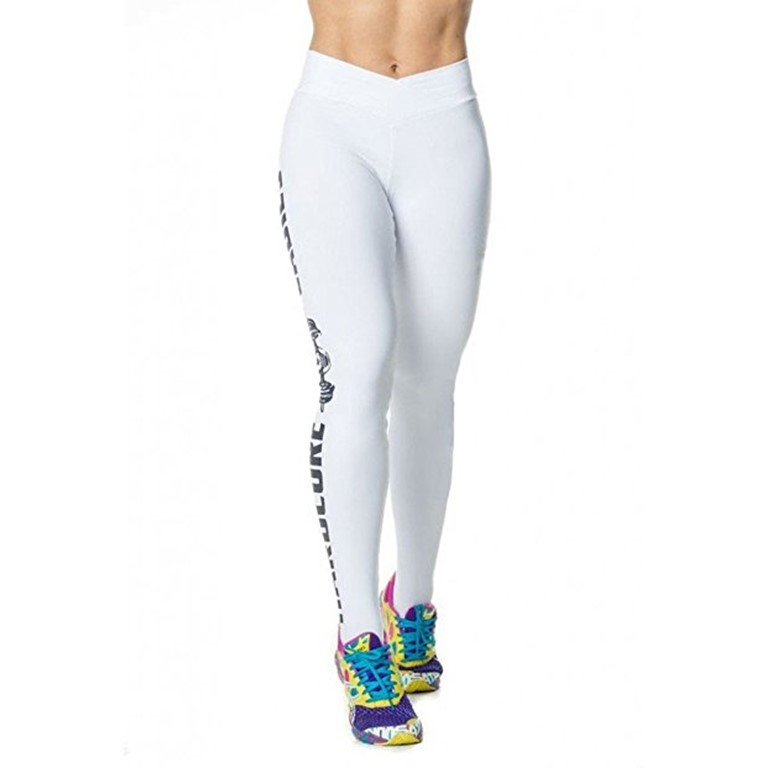 White Printed Leggings Manufacturer Wholesale Clothing Suppliers