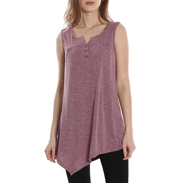 Wholesale Women Henley Tank Top Supplier Private Label Clothing Manufacturer